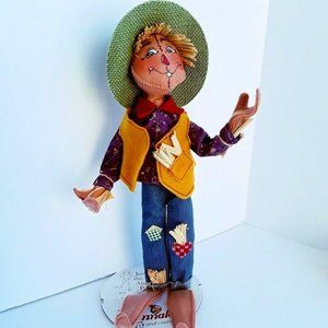 NWOT Rare Retired 2016 Annalee Poseable Scarecrow